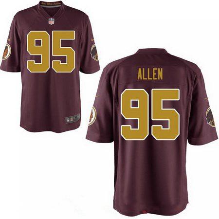 huge selection of 1630e be3df Men's 2017 NFL Draft Washington Redskins #95 Jonathan Alle ...