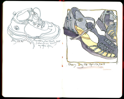 Daily Sketchers Day 116 Shoes April 26 Chris carter Artist ink watercolor 042617 1080 | by ChrisCarterArt