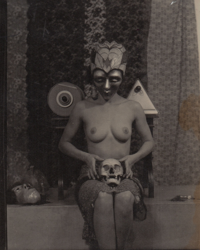 William Mortensen - Masked Nude with Skull, 1926