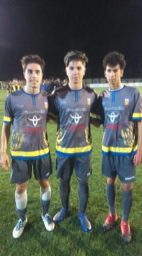 Juveniles de la PD Rociera Pablo Almaraz, Ángel Monge y David Curado