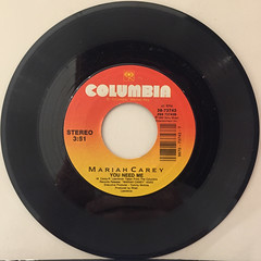 MARIAH CAREY:I DON'T WANNA CRY(RECORD SIDE-B)