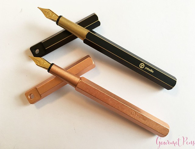 Review YStudio The Weight of Words Portable Fountain Pen - Brassing & Classic @AppelboomLaren 27