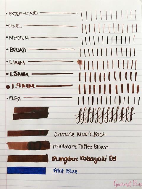 Ink Shot Review Diamine Music Bach @AppelboomLaren 2