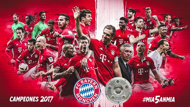El Bayern de Múnich consigue su 5a Bundesliga consecutiva