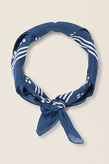 Seasalt Sailor Square neck scarf, navy