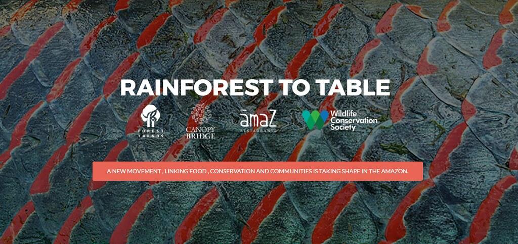 「從雨林到餐桌」運動除了有廚師響應,也有多個組織支持。圖片來源:截圖自 Rainforest to table 網站。