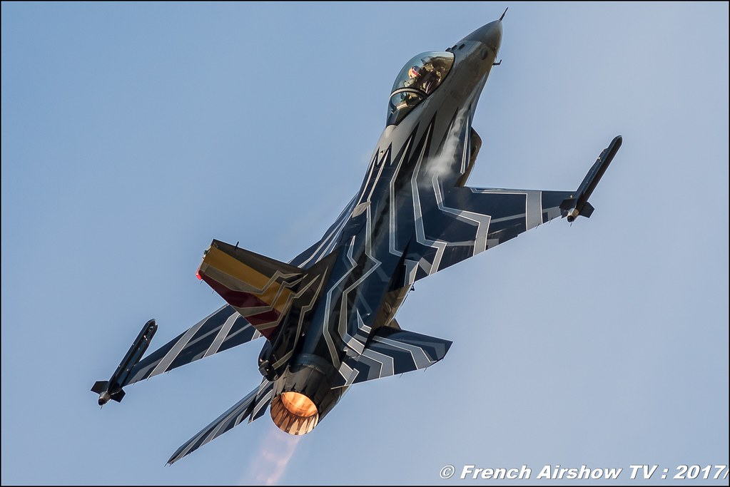 Belgian Air Force F-16 Solo Display , f-16 belge solo display 2017 ,Meeting de l'Air BA-106 Bordeaux-Merignac 2017