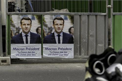Macron President, Emmanuel Macron campaign poster, Paris