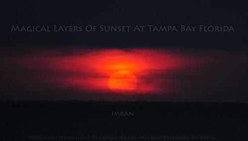Magical Layers Of Sunset At Tampa Bay Florida - IMRAN™