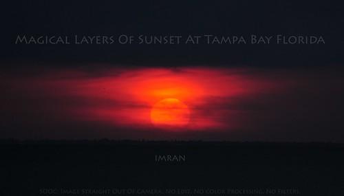 Magical Layers Of Sunset At Tampa Bay Florida - IMRAN™
