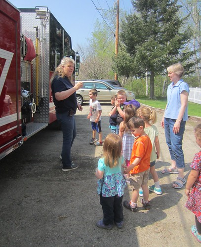 learning about the parts of the fire truck