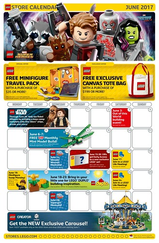 LEGO June 2017 Store Calendar Promotions & Events - The Brick Fan ...