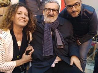 Da destra, Gravinese, Michele Emiliano e Adalisa Campanelli