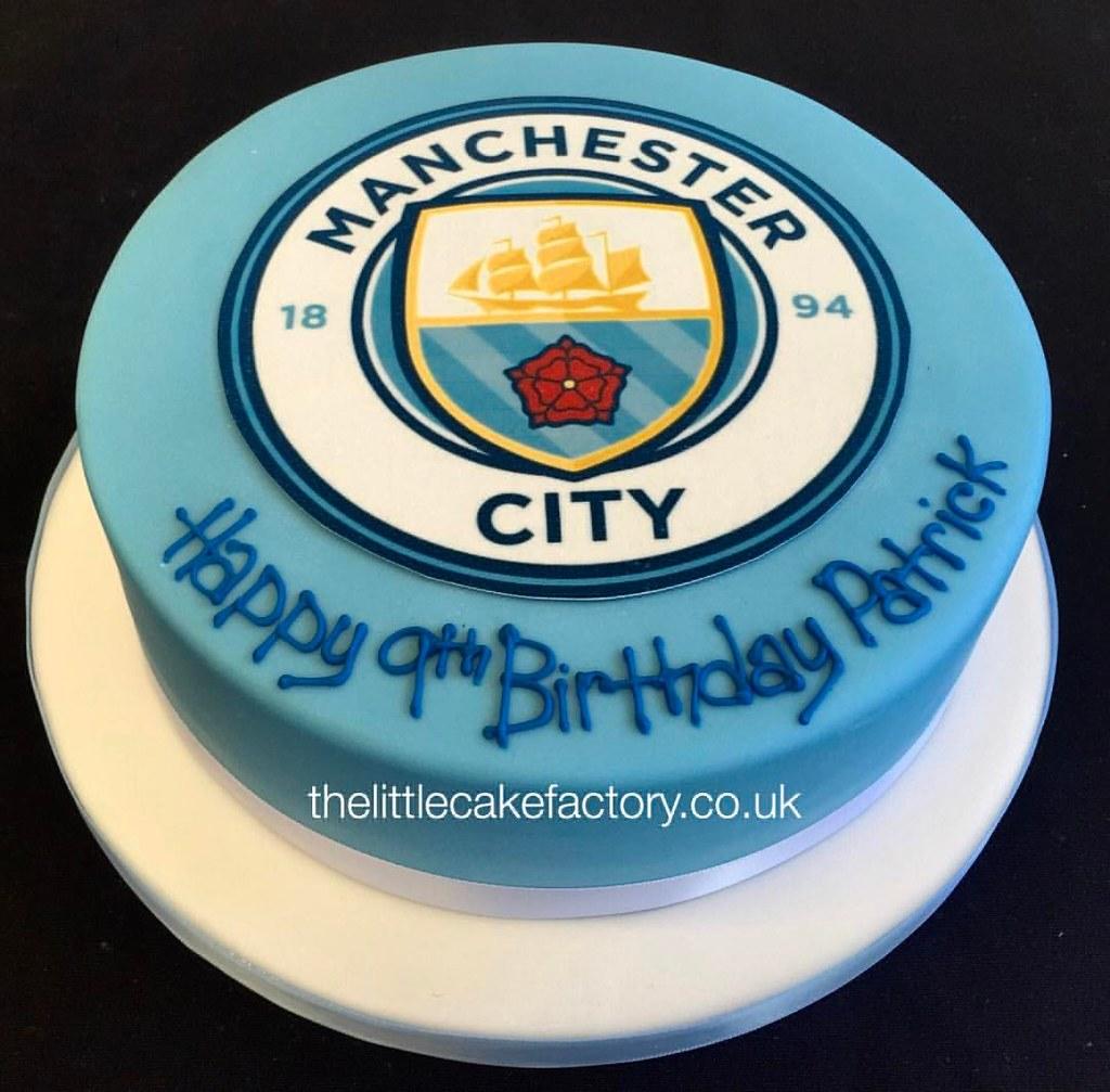 Manchester City Cake thelittlecakefactorycouk romford Flickr