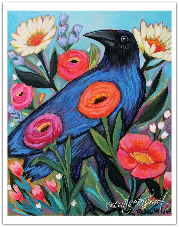 Enchanting Raven Art Print by Creative Kismet