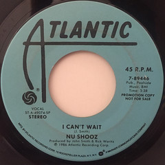 NU SHOOZ:I CAN'T WAIT(LABEL SIDE-B)