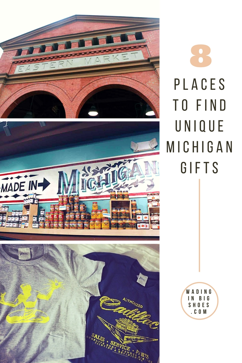 8 Places To Find Unique Michigan Gifts In Metro Detroit (via Wading in Big Shoes) - Michigan-made brands and products from Michigan retailers
