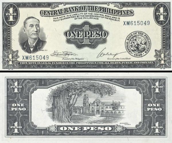 1 Peso Filipíny 1949, P133h