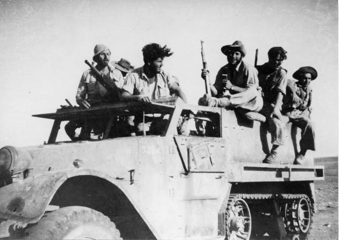 M3-halftrack-negev-brig-9btn-road-to-abu-ageila-1948-plm-1