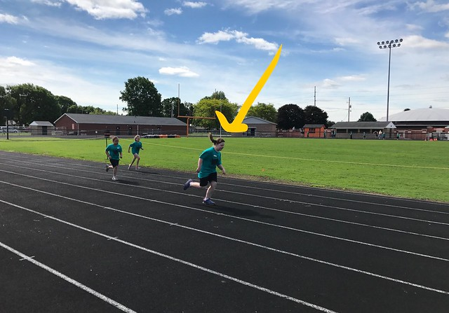 Lucy runs at track and field day