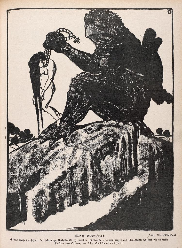 Julius Diez - The Tribute, 1904