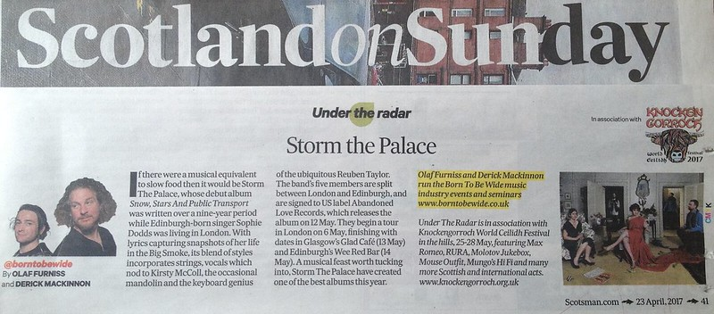 Scotland On Sunday, 23 April 2017, Storm The Palace