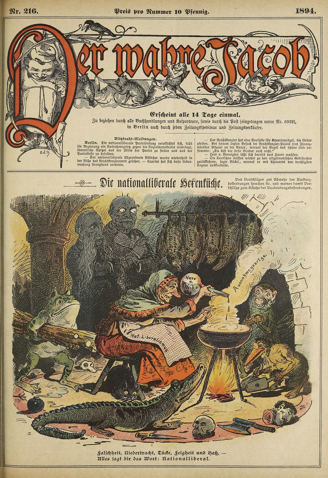 Unsigned - The National Liberal Witch Kitchen, 1894