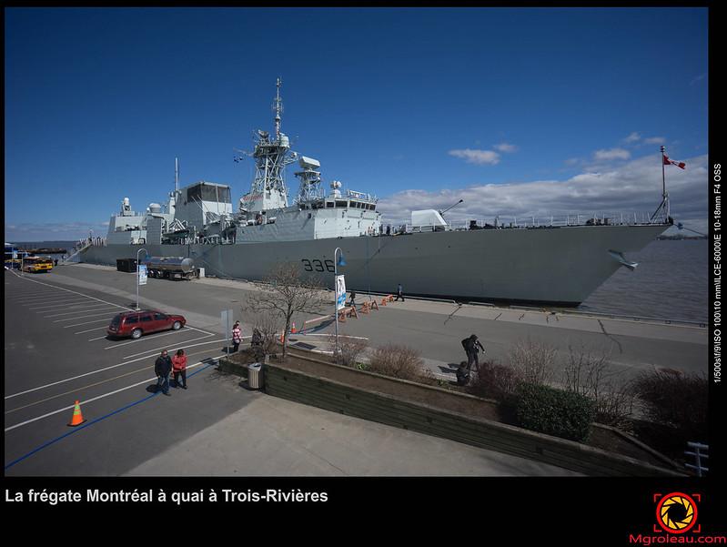 La frégate Montréal à quai à Trois-Rivières