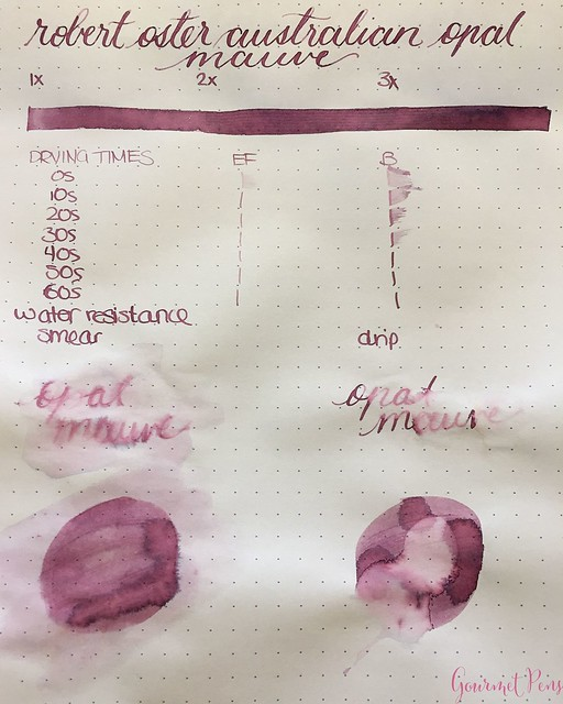 Ink Shot Review @RobertOsterInk Australian Opal Mauve @NoteMakerTweets 2