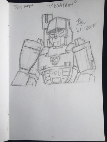 G1 Megatron Sketch (Original)