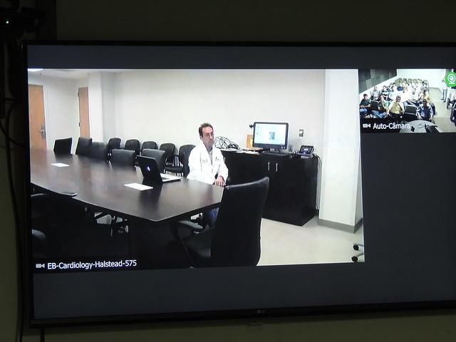 Reunião clínica de Cardiologia por videoconferência