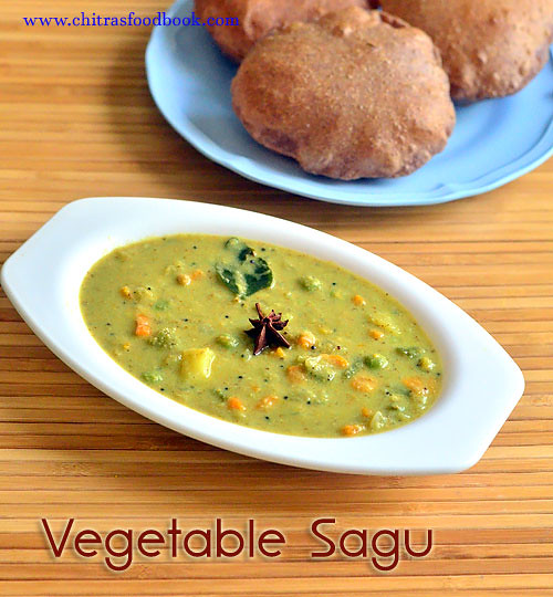 Mixed vegetable sagu recipe