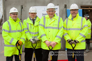 Swansea University Topping Out Ceremony (61 photos)