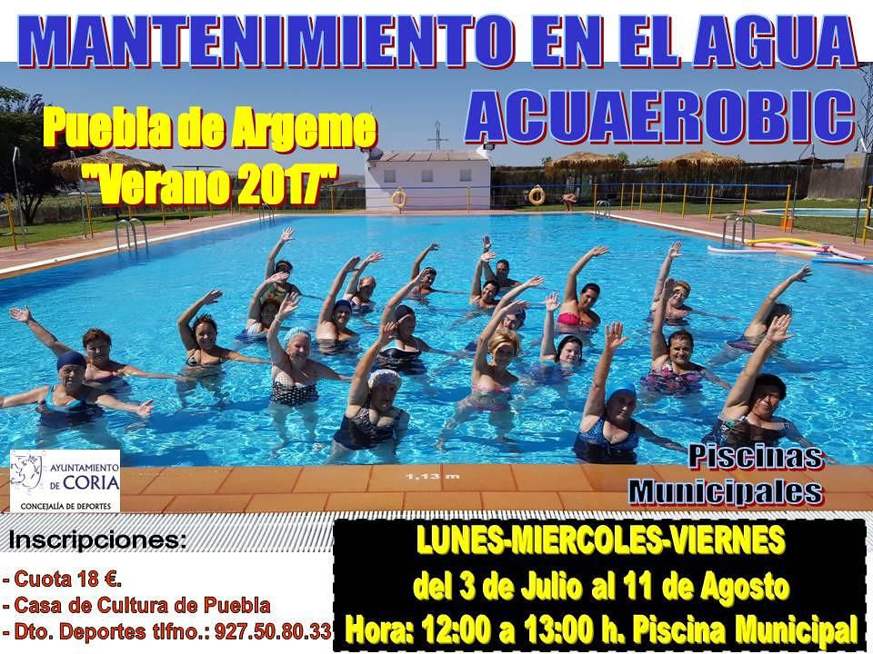 """Cursos de Acuaerobic """"Rincón del Obispo y Puebla de Argeme"""""""
