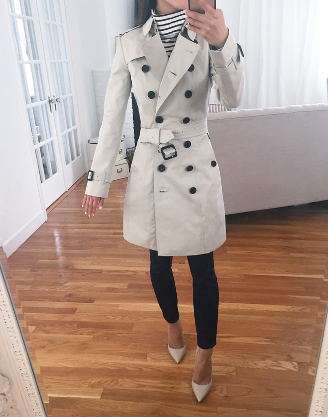 Burberry chelsea classic slim fit trench coat petite review