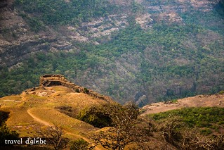 Enchanting view of Sahyadri Mountain ranges from the Rajmachi Fort.
