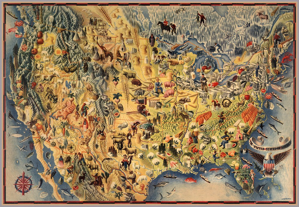 Pictorial Map of the U.S. (1942)