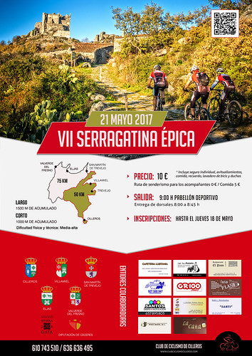 Cartel final VII Serragatina Épica | by Club Ciclismo Cilleros