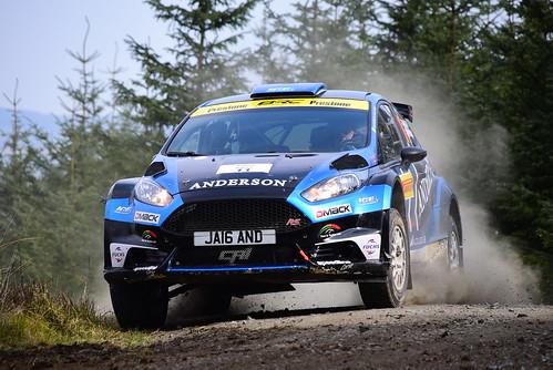Jamie Anderson - Ross Whittock, Ford Fiesta R5, MSA British Rally Championship, Carlisle 2017