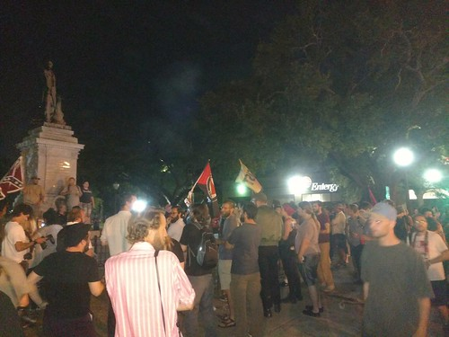 Monument confrontation