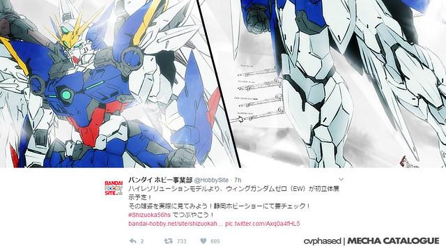 56th Shizuoka Hobby Show Teaser - 1/100 Hi-Resolution Model Wing Gundam Zero EW