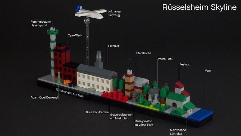 Rüsselsheim Skyline - Beschreibung