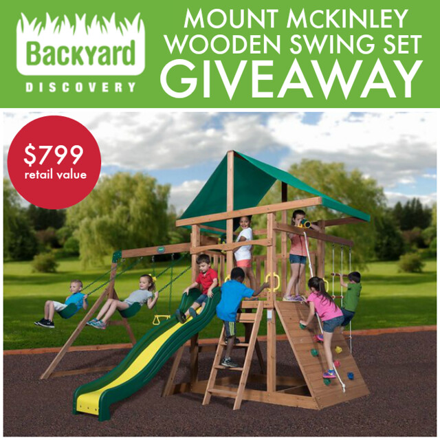 Wooden Swing Set Giveaway