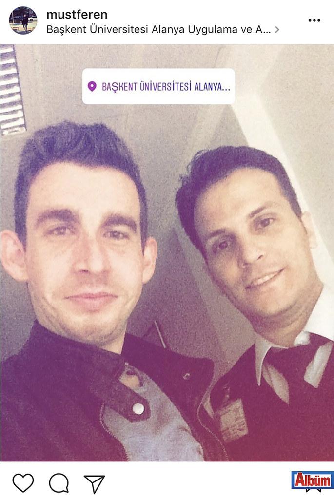 Mustafa Eren Yıldz, Başkent Hastanesi'nden arkadaşı Serkan bildirici ile bu fotoğrafı paylaştı.