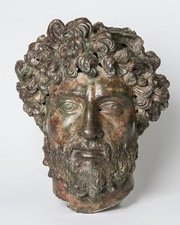 Bronze head of Aelius Verus