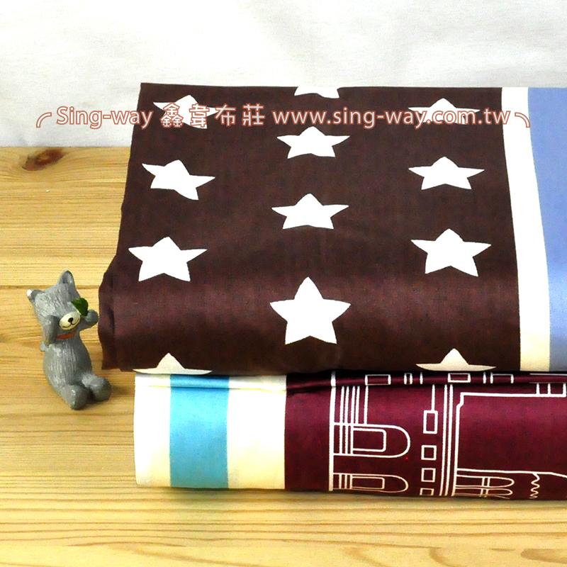 魔法星球 塗鴉童趣 精梳棉床品床單布料 CA490357