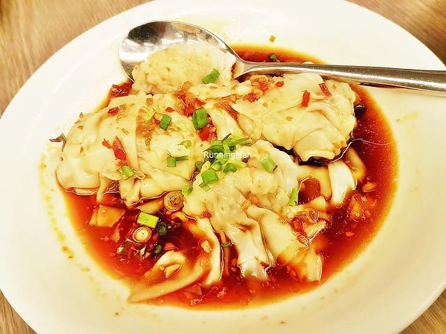 Dumpling Prawn And Pork In Hot Chili Vinaigrette