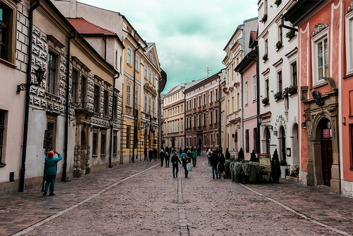 krakow street at bad weather | by Bezemnod