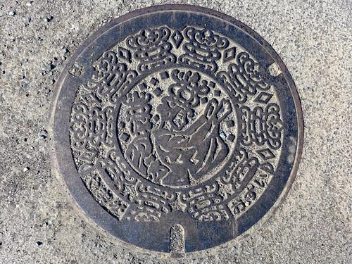Yamaga Kumamoto, manhole cover 3 (熊本県山鹿市のマンホール3)