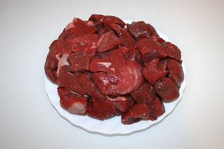 01 - Zutat mageres Rindfleisch / Ingredient fatless beef